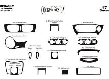 Volkswagen Passat B5 Typ 3B 09.96 - 06.04 Декоративные накладки приборной панели, торпеды, консоли и дверей салона 26-Декор Элем