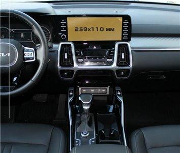 Toyota Hilux MK7 2004–2015 Mittelkonsole Armaturendekor Cockpit Dekor 8 -Teile